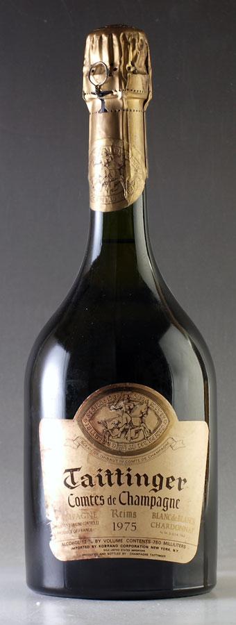 [1975] テタンジェ・コント・ド・シャンパーニュ ブラン・ド・ブラン【ラベル汚れ】Taittinger Comtes de Champagne Blanc de Blancs 750ml