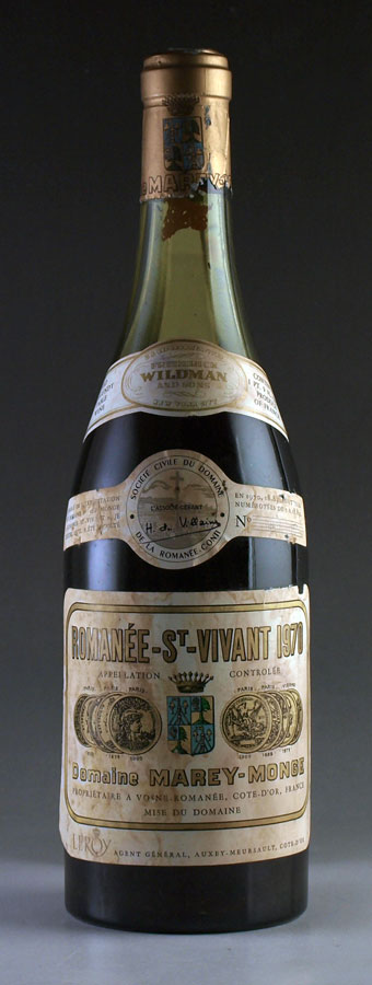 [1970] ロマネ・サン・ヴィヴァンRomanee St.Vivantドメーヌ・ド・ラ・ロマネ・コンティ DRC[自社輸入]