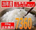神様がほれた米、三重県産28年産 コシヒカリ20kg(10kgx2)20kg買うとさらにお得