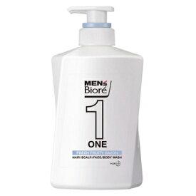 メンズビオレ ONE オールインワン 全身洗浄料 清潔感のあるフルーティーサボンの香り 本体 480ml 【化粧品】