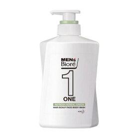 メンズビオレ ONE オールインワン 全身洗浄料 爽やかなハーバルグリーンの香り 本体 480ml 【化粧品】