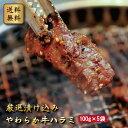 【送料無料】【牛肉ハラミ5人前(味付き)】厳選漬け込みやわらか牛ハラミ100g×5袋 ★味付きで焼くだけ簡単! ★普通…