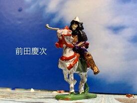 [完成品]前田慶次 +家臣3 4体セット 合戦のジオラマ 戦国武将 フィギュア プラモデル 米沢城 時代模型 1/72サイズ 慶次