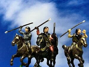 [完成品] 東北の英雄 アテルイ 蝦夷(アイヌ)軍 騎馬3+兵士7 10体セット 合戦 ジオラマ 戦国武将  飛鳥・白鳳・天平文化 フィギュア プラモデル 大和朝廷 時代模型 1/72サイズ