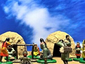 [完成品] 蝦夷(アイヌ)民 15体セット 合戦 ジオラマ  奈良時代 飛鳥・白鳳・天平文化 フィギュア プラモデル 大和朝廷 時代模型 1/72サイズ