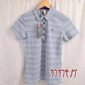 【中古】(未使用) アンダーアーマー/UNDER ARMOUR ゴルフ 半袖 シャツ ポロシャツ UA Zinger SS Novelty Polo ホワイト/ブルー サイズMD レディース 1272340
