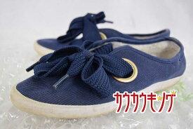 【中古】adidas(アディダス) RELACE LOW CORDUROY AC リレース ロー コーデュロイ AC S74561 サイズ22.5cm ネイビー