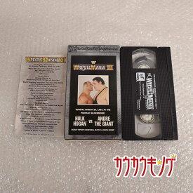 【中古】WWF WrestleMania 3 プロレス VHS