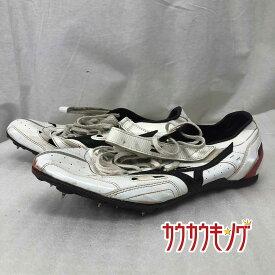【中古】mizuno ミズノ ジオスナイパー ホワイト/ブラック サイズ26.5cm 陸上 スパイク シューズ 8KM-11409