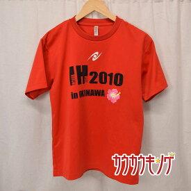 【中古】 Nittaku /ニッタク 半袖シャツ プラシャツ レッド サイズM メンズ 卓球 ウェア 2010 インターハイ 沖縄 20032209