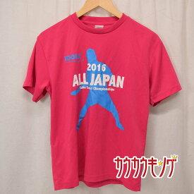 【中古】 JOOLA /ヨーラ 半袖シャツ プラシャツ ピンク サイズS メンズ 卓球 ウェア 2016 全日 20032210