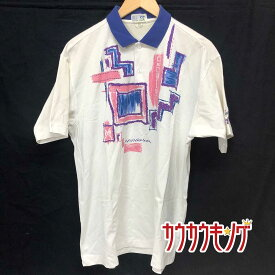 【中古】TSP ゲームパンツ 半袖シャツ ポロシャツ JTTA ホワイト サイズXO メンズ 卓球ウェア