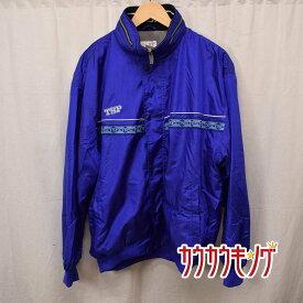 【中古】TSP 中綿入りジャケット サイズXO ブルー 防寒 卓球