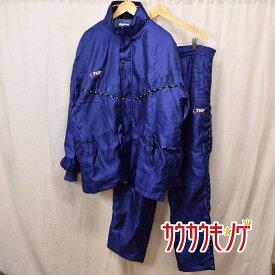 【中古】TSP 中綿入りジャケット&パンツ 上下セット サイズXO ブルー 防寒 卓球
