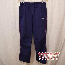 【中古】TSP スリーレイヤーパンツ サイズO ネイビー/ピンク 卓球 ロングパンツ
