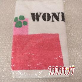 【中古】(未使用) TSP 2/3 タオル 大型 ホワイト/ピンク 卓球