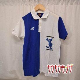 【中古】ディズニー 卓球 ゲームシャツ サイズM JTTA公認 ユニフォーム ブルー/ホワイト