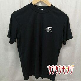 【中古】ミズノ/MIZUNO 全日本 北海道 2008 半袖シャツ プラシャツ ブラック サイズS 卓球ウェア