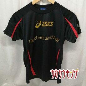 【中古】アシックス/ASICS 全日本 2013 半袖シャツ プラシャツ ブラック サイズS 卓球ウェア