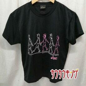 【中古】アシックス/ASICS インターハイ 近畿 2006 半袖シャツ プラシャツ ブラック サイズS 卓球ウェア