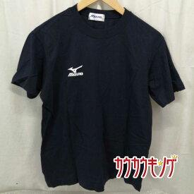 【中古】MIZUNO/ミズノ 半袖シャツ プラシャツ コットン Tシャツ ブラック サイズM スポーツ/卓球ウェア