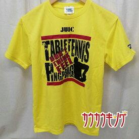 【中古】JUIC/ジュウイック プラシャツ 半袖 シャツ Tシャツ イエロー サイズXS 卓球ウェア