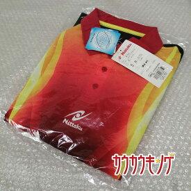 【中古】★未使用★ ニッタク Nittaku ゲームシャツ ユニフォーム 半袖 シャツ ポロシャツ レッド JTTA サイズS 卓球ウェア
