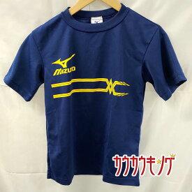 【中古】MIZUNO/ミズノ プラシャツ 半袖シャツ ネイビー サイズXS 卓球ウェア ユニ 全日本2013福島