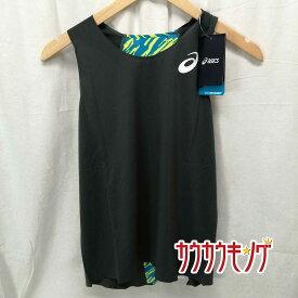 【中古】(未使用) asics アシックス レディース 陸上ランニングシャツ トップインパクト TI W'S SINGLET サイズM ダークグレー 140919