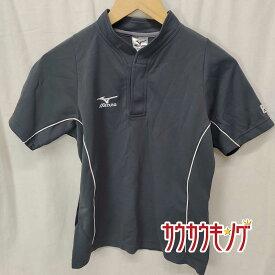 【中古】MIZUNO ミズノ 半袖シャツ グレー サイズM 卓球ウェア ユニフォーム JTTA ポロシャツ レディース