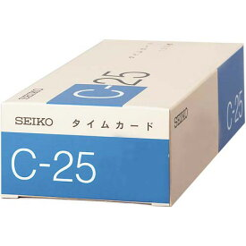 セイコープレシジョン タイムカードC−25 100枚入