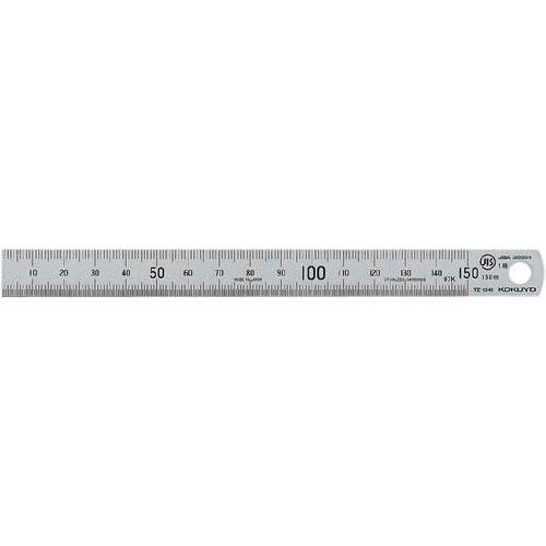コクヨ ステンレス直定規 15cm JIS1級