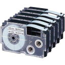 カシオ ネームランド 白色テープ 12mm 黒文字 5個入