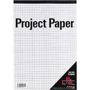 オキナ プロジェクトペーパーB5 5ミリ方眼罫100枚×5