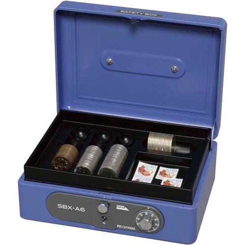 アイリスオーヤマ 手提金庫 A6 ブルー