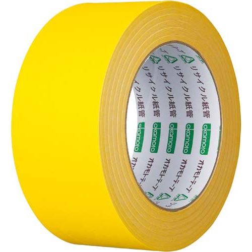 オカモト カラークラフトテープ 224WC 黄 1巻関連ワード【ガムテープ 梱包テープ 梱包用】