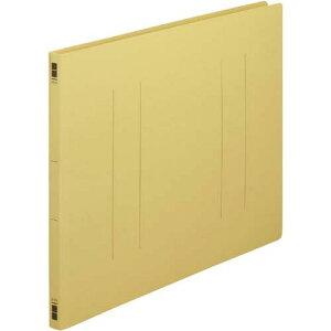 カウネット フラットファイル樹脂とじ具 A3横 黄 100冊