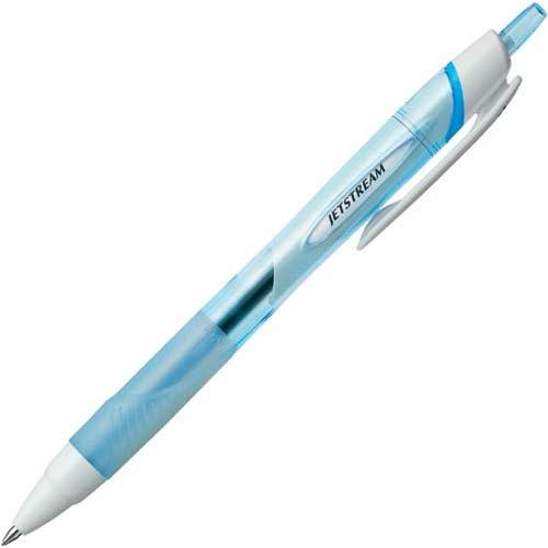 三菱鉛筆 油性ボールペン ジェットストリーム0.7mm水色軸