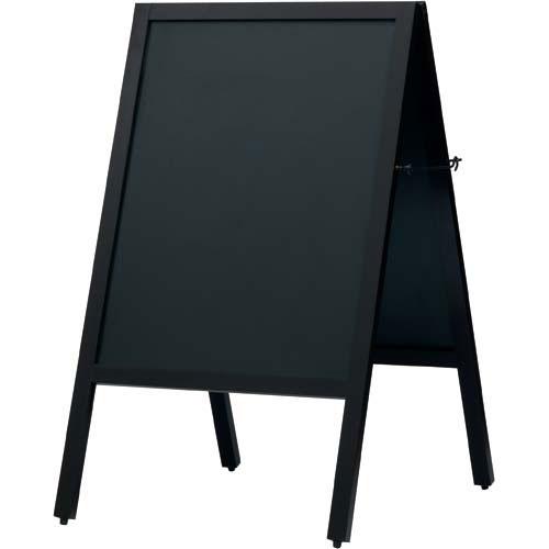 カウネット A型スタンド黒板 ダークブラウン 幅500| ブラックボード ぶらっくぼーど 店舗用品 業務用 カフェ ディスプレイ ディスプレー メニュー メニューボード カウモール