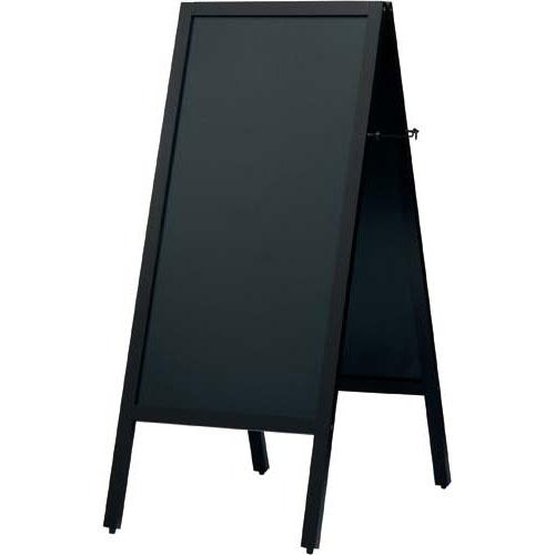 カウネット A型スタンド黒板 スリム ダークブラウン 幅450 | ブラックボード ぶらっくぼーど 店舗用品 業務用 カフェ ディスプレイ ディスプレー メニュー メニューボード カウモール