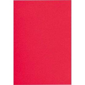 カウネット 色画用紙 四つ切 赤 1セット(5枚×6入)