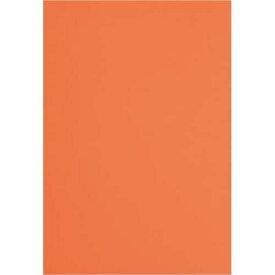 カウネット 色画用紙 四つ切 橙 1セット(5枚×20入)