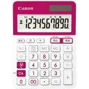 キヤノン 電卓 小型 カラー LS−103TUC ピンク