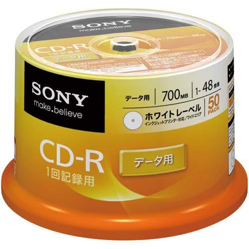 ソニー CD−R ワイドプリンタブル 50枚SP