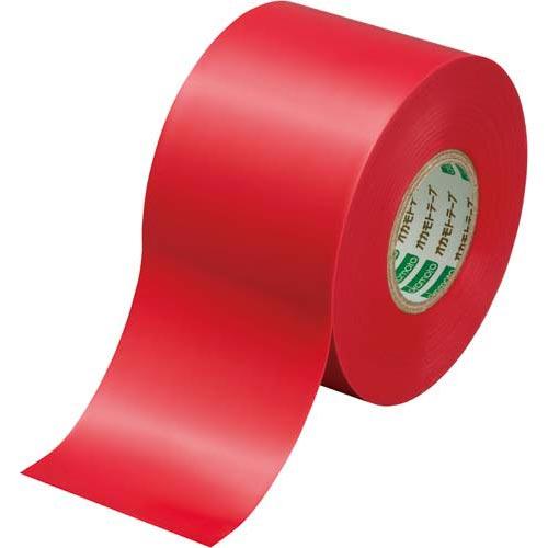 オカモト ビニールテープ 赤 50mm×20m 1巻