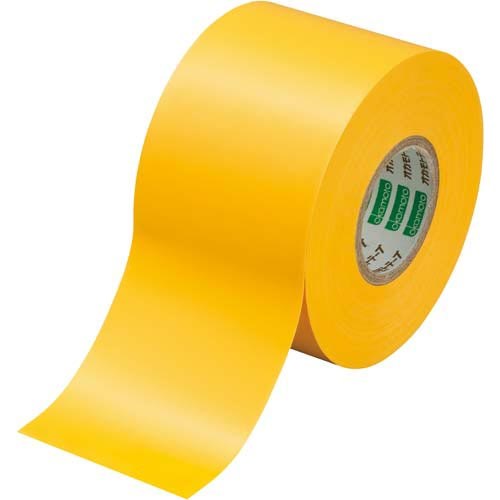 オカモト ビニールテープ 黄 50mm×20m 10巻