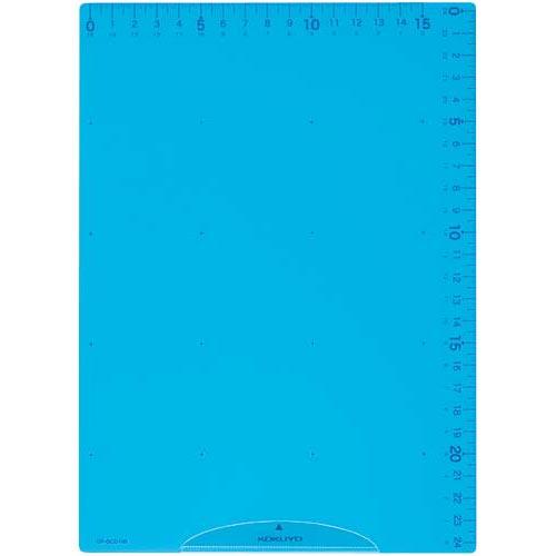 コクヨ 下敷きB5 定規機能 簡易クリップ 付 ブルー【取寄商品】