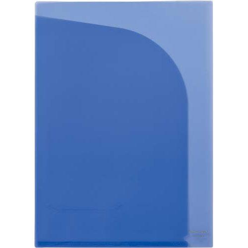 カウネット クリヤーフォルダー A4 2ポケット 5枚 ブルー | クリアフォルダ クリアファイル クリアーファイル 透明 文具 文房具 収納 整理 書類 収納 書類整理 仕分け ステーショナリー 事務用品 A4
