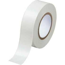 カウネット ビニールテープ 白 19mm×10m 30巻| 梱包 梱包資材 テープ 引っ越し 引越し 梱包テープ 粘着テープ ビニール テープ 工作 作業用品 生活雑貨 まとめ買い カウモール