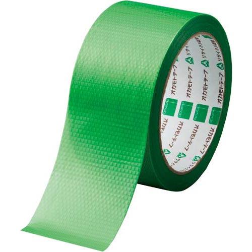 オカモト カラークロステープ No.420 緑 1巻関連ワード【ガムテープ 梱包テープ 梱包用】